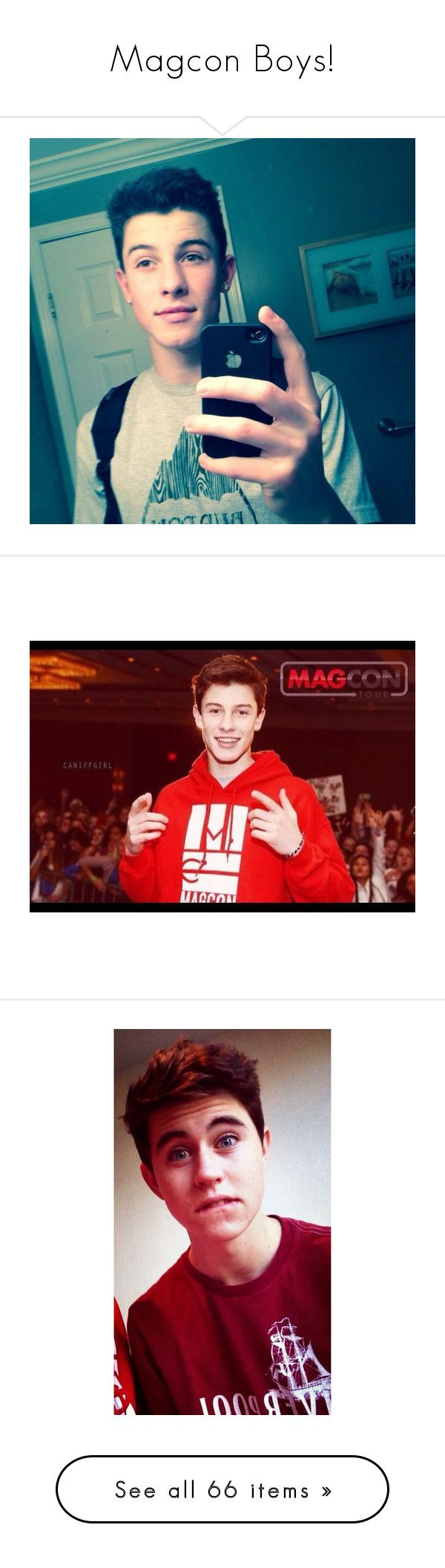"""""""Magcon Boys!"""" by rockysdimplesr5 ❤ liked on Polyvore featuring magcon, shawn, shawn mendes, pictures, magcon boys, people, boys, nash grier, carter and taylor"""