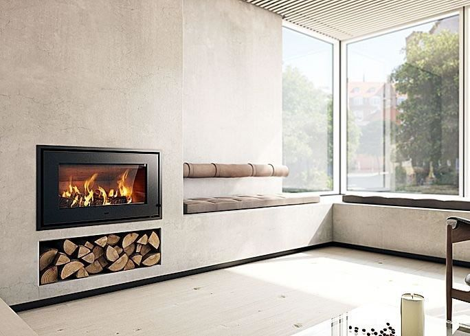 Rais | 700 5kw Wood Burning Insert Fire Black