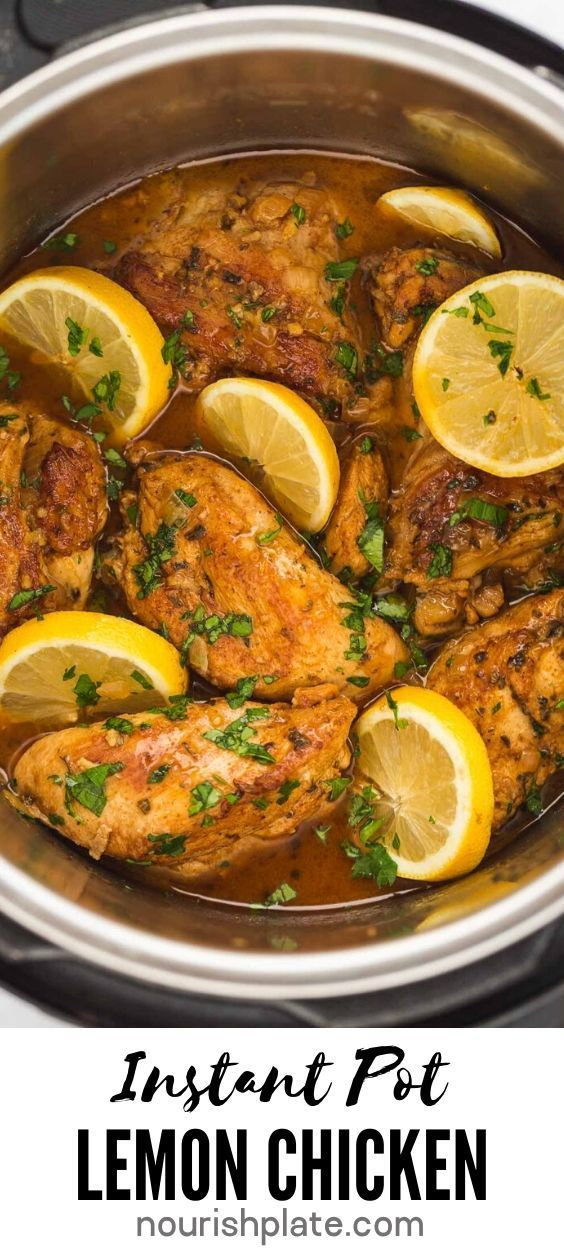 Jun 21, 2020 – Instant Pot Lemon Garlic Chicken recipe is one of the most delicious meals that you can make in your inst…
