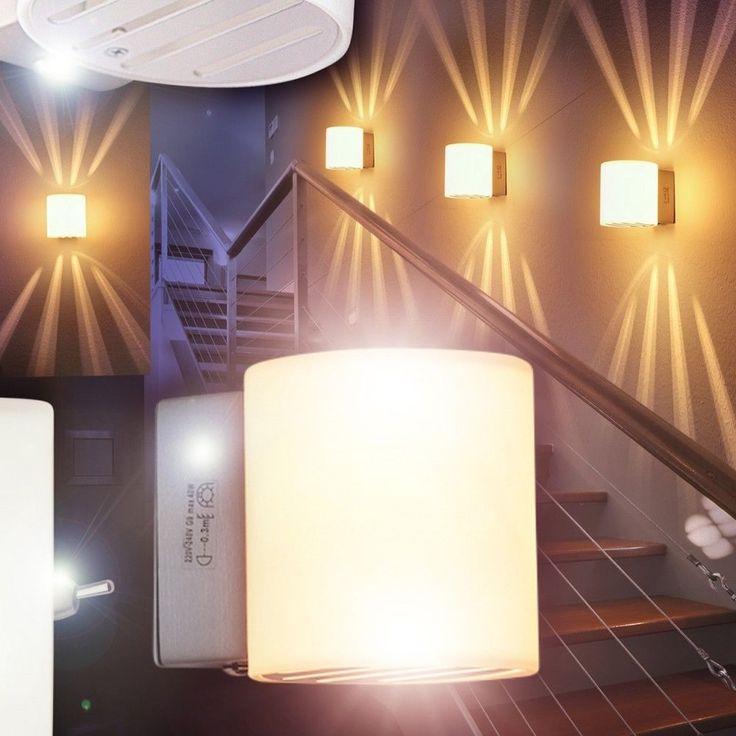 Wandleuchte Design Wohn Zimmer Lampen Strahler Flur Leuchten Wandlampe Schalter in Möbel & Wohnen, Beleuchtung, Wandleuchten | eBay!