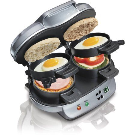 Refurbished Hamilton Beach Dual Breakfast Sandwich Maker -- Learn more by visiting the image link.  This link participates in Amazon Service LLC Associates Program, a program designed to let participant earn advertising fees by advertising and linking to Amazon.com.