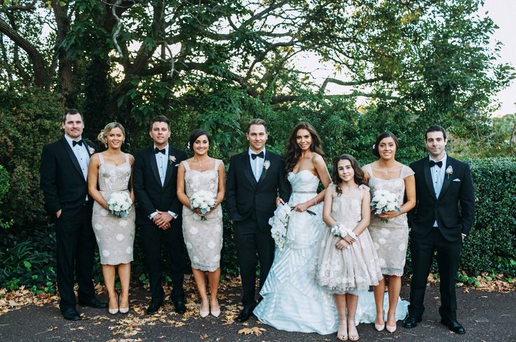The bridal party.  Photographer: Chris Prestige, At Dusk Photography. #sheglowsHP #bridalparty #sydneywedding