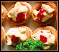 Chicken and Cranberry Vol au Vents