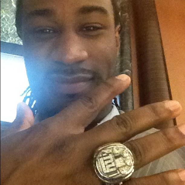 Isaiah Stanback and his Super Bowl XLVI ring!