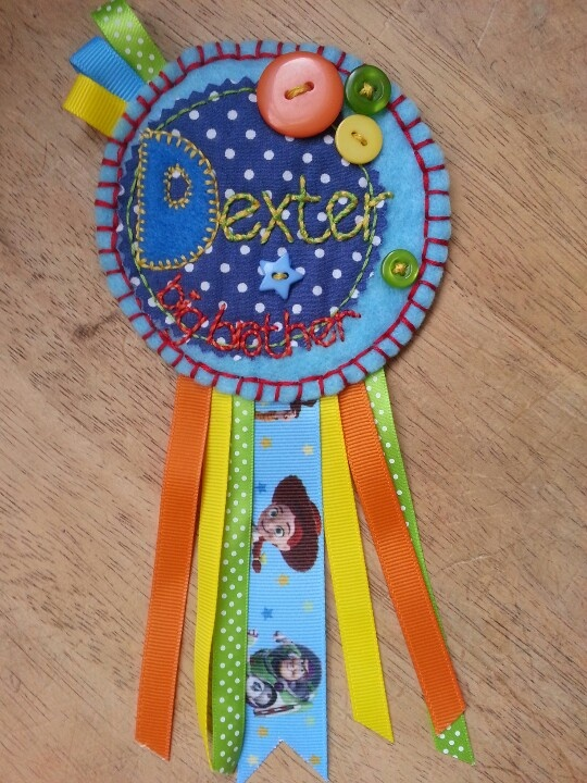 Toy Story rosette badge for a big brother to be :-)