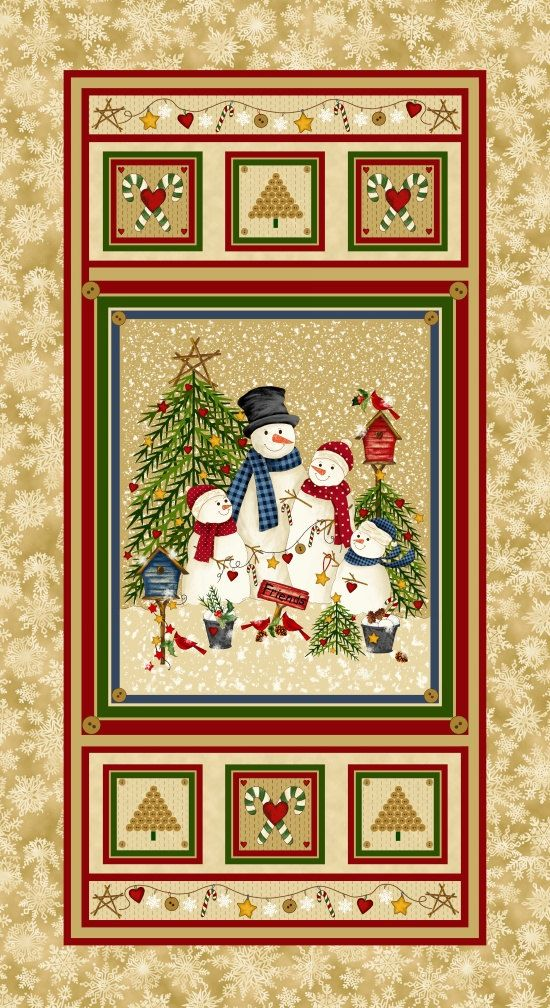The 25 Best Christmas Fabric Panels Ideas On Pinterest