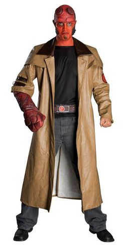 Men's #Hellboy #Halloweencostume  http://adultsfancydresscostumes.com/frightfully-cheap-and-easy-adult-halloween-costume-ideas