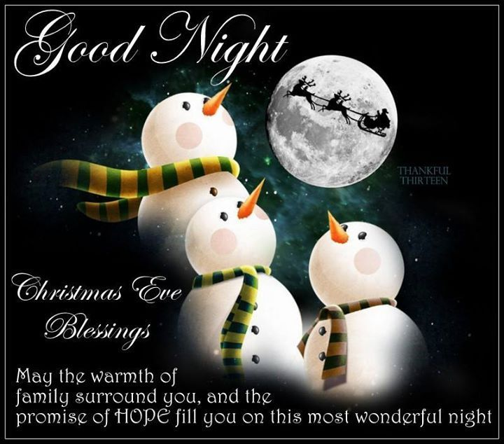 Good Night Christmas Eve Blessings Pictures, Photos, and Images ...