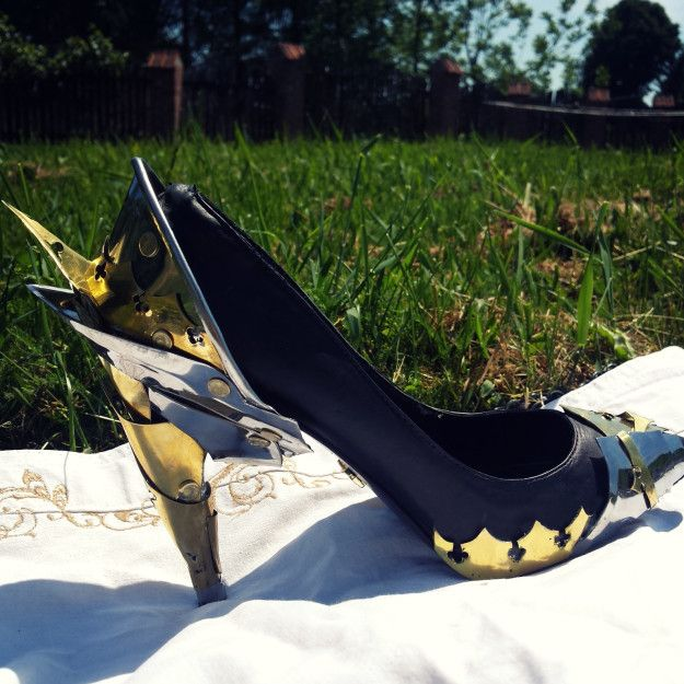 Jagoda was totally shocked when she first saw the finished shoes, said Alan.   This Guy Turned His Girlfriend's Dog-Chewed Shoe Into An Amazing Heel
