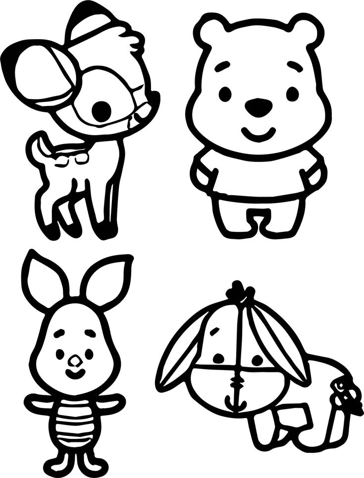 Baby Winnie The Pooh And Tigger Coloring Pages With