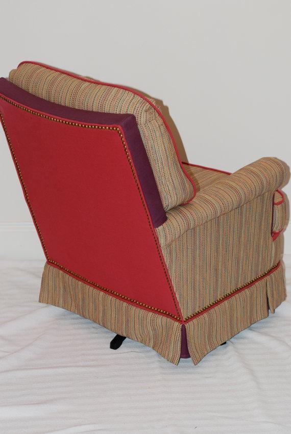 Custom Rocking Swivel Chair For Girls Nursery Or Playroom. Designed By  Modern Vintage Decor U0026