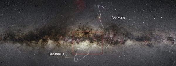 Mapa del centro de la Vía Láctea, con 84 millones de estrellas censadas