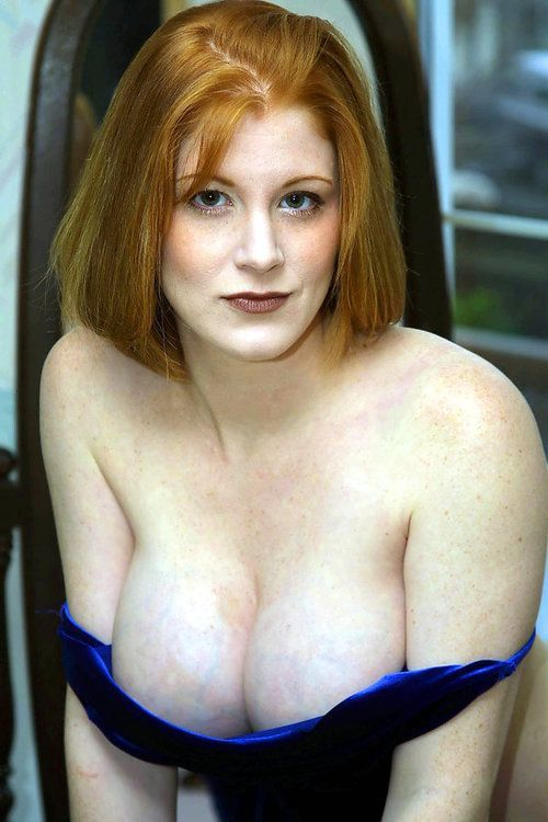 Busty redhead mature with huge boobs
