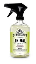 Dr. McGrath's Conditioning Spray Shampoo  Free from sulfates, DEA, phosphates, parabens, phthalates, fragrances, and dyes Gentle on your animal and the environment Guaranteed  Regular shampoo you use with water - now in a convenient spray bottle Simply apply to your animal - dry or wet. Add water, lather and rinse.