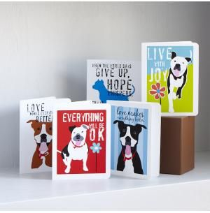 Set of Eight Love & Friendship Note Cards, Dog Park Publishing