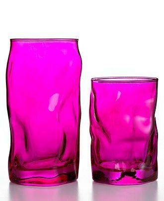 Bormioli Rocco Glassware, Sorgente Fuchsia Sets of 6 Collection - Casual Dining - Kitchen - Macy's