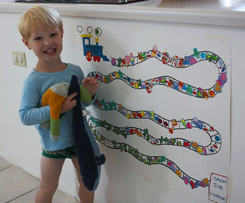 Morning Glories: potty train express! -potty training sticker chart-