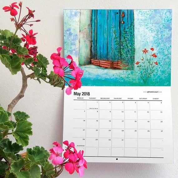 2018 CALENDAR Calendar Wall Calendar Art Calendar A4