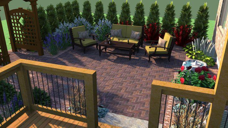 Patio, Sketchup, 3D Design   Garden design software, Free ... on Sketchup Backyard id=16322