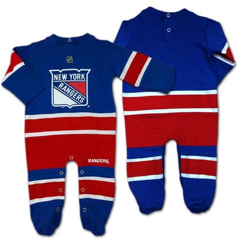 ee0459eda123 Rangers Baby Jersey Style Coverall  newyork  rangers  hockey  baby ...