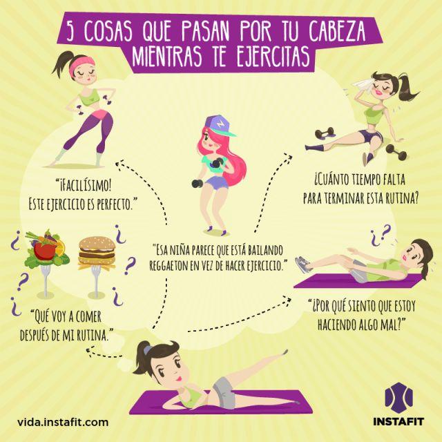 5 pensamientos que cruzan tu mente al hacer ejercicio