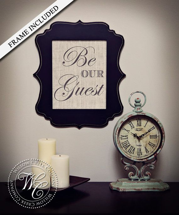 Be Our Guest Sign Guest Room Decor Wedding by WillowCreekCompany, $40.00
