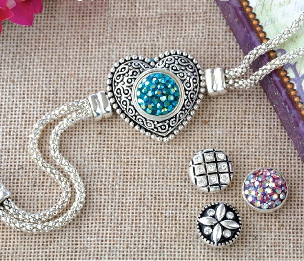 Lotti Dottie bracelet come into the boutique to shop for Interchangeable jewelry.  Scroll Heart Bracelet $22.99 Dotties sold separately at $7.25 each, Crystal Clusters $14.25 Buy 3 dotties get one free everyday!