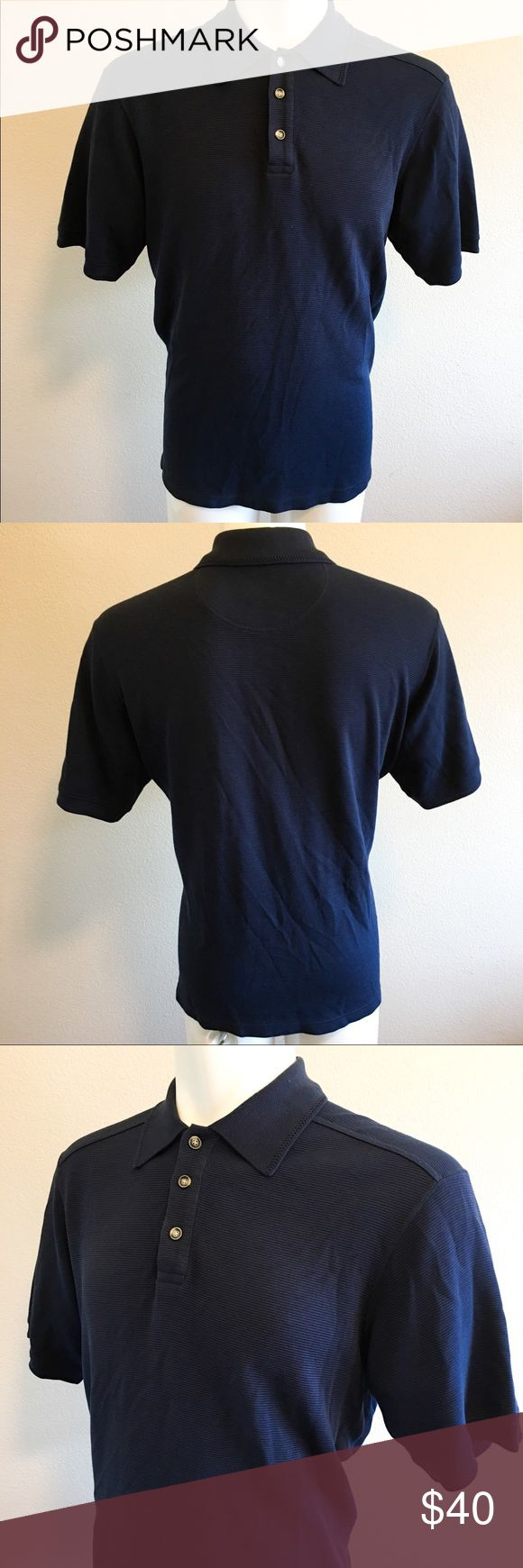 """Tommy a Bahama Polo Dress Shirt Tommy Bahama Polo Dress Shirt In immaculate condition!  Professionally dry-cleaned. Size: Medium  70% Silk 28%Cotton •armpits 23"""" •length 27""""  -A- Tommy Bahama Shirts Polos"""