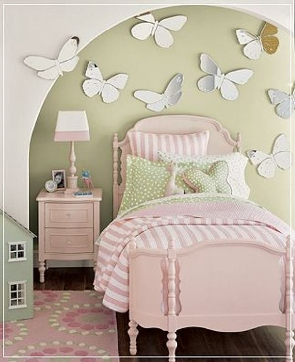 20 Cool Green Kids Rooms To Inspire | Kidsomania  L would love this....so girly