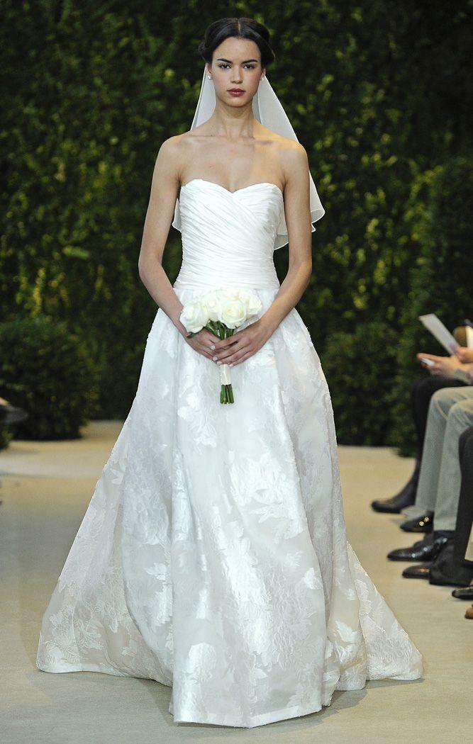 Vestidos de novia de gala palabra de honor con escote corazón de Carolina Herrera 2014 - Modelo Abatha