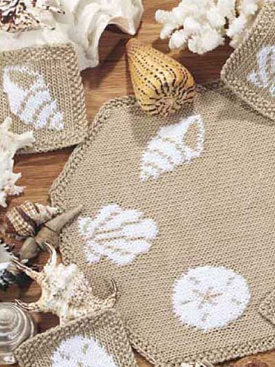 Best 120 Knit Placemats Coasters Doilies And Table Runners Ideas