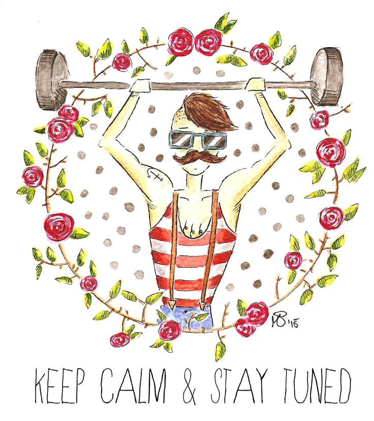 weightlifting hipster - watercolor motivational quote