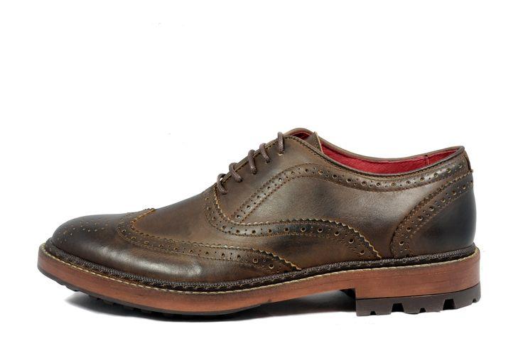 Pantofi barbatesti maron deschis Hispanitas din piele naturala 100%