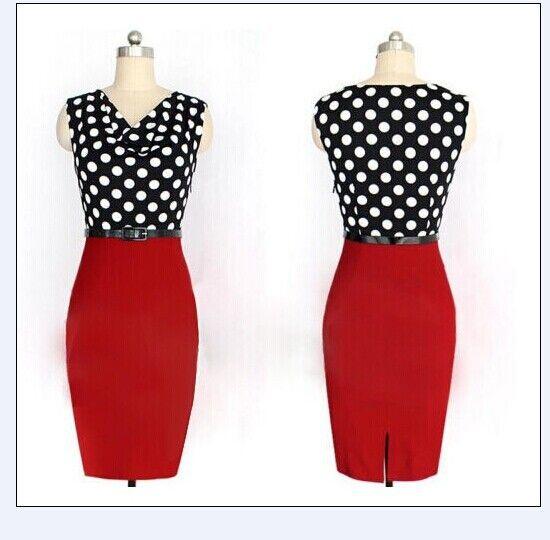 Платье винтажный, chic 50-60-х годов рокабилли ретро офис карандаш покачиваться-в булавка вверх без ремень