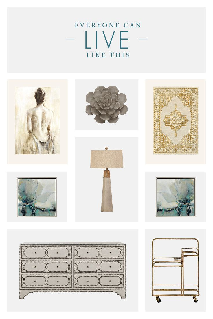 Give your home a whole new look with distinctive accent pieces like eclectic accessories and unique canvas art.