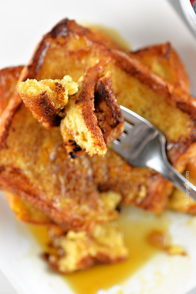 Perfect French Toast. Rae's Review: really good!! The kids gobbled it up. I used soymilk instead of normal milk and I REALLY love how it turned out. Also, I would add a tad extra cinnamon next time. And instead of buttering the pan, make sure you butter the bread. 4.5/5 stars!