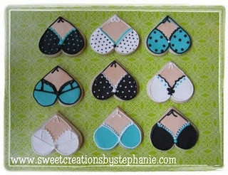 Bikini Cookies Royal Icing