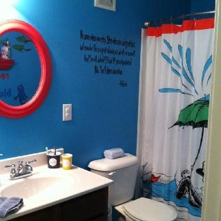 Dr seuss bathroom decor