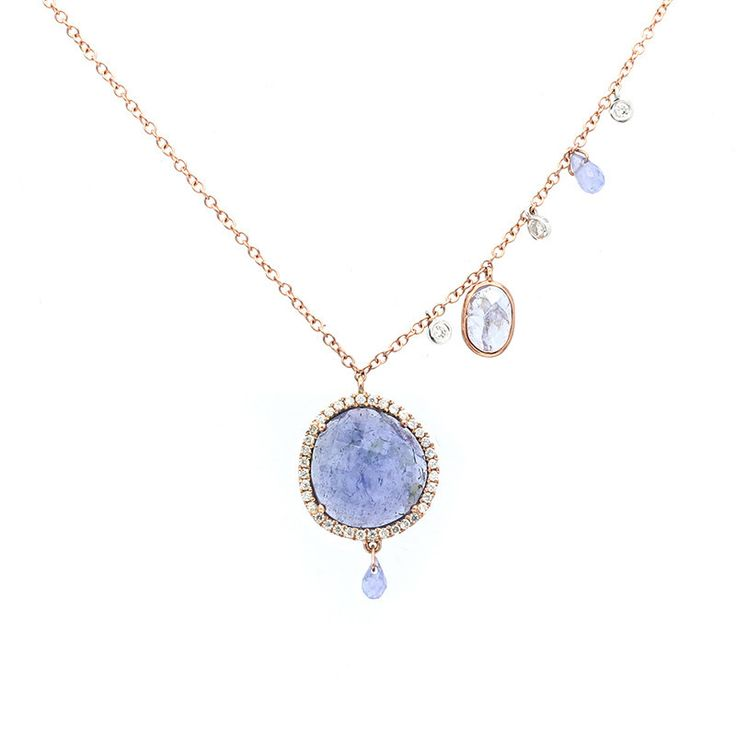 Meira T Rose Gold Tanzanite Necklace – Meira T Boutique