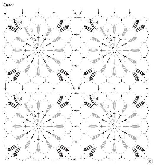 Треугольный топ из мотивов