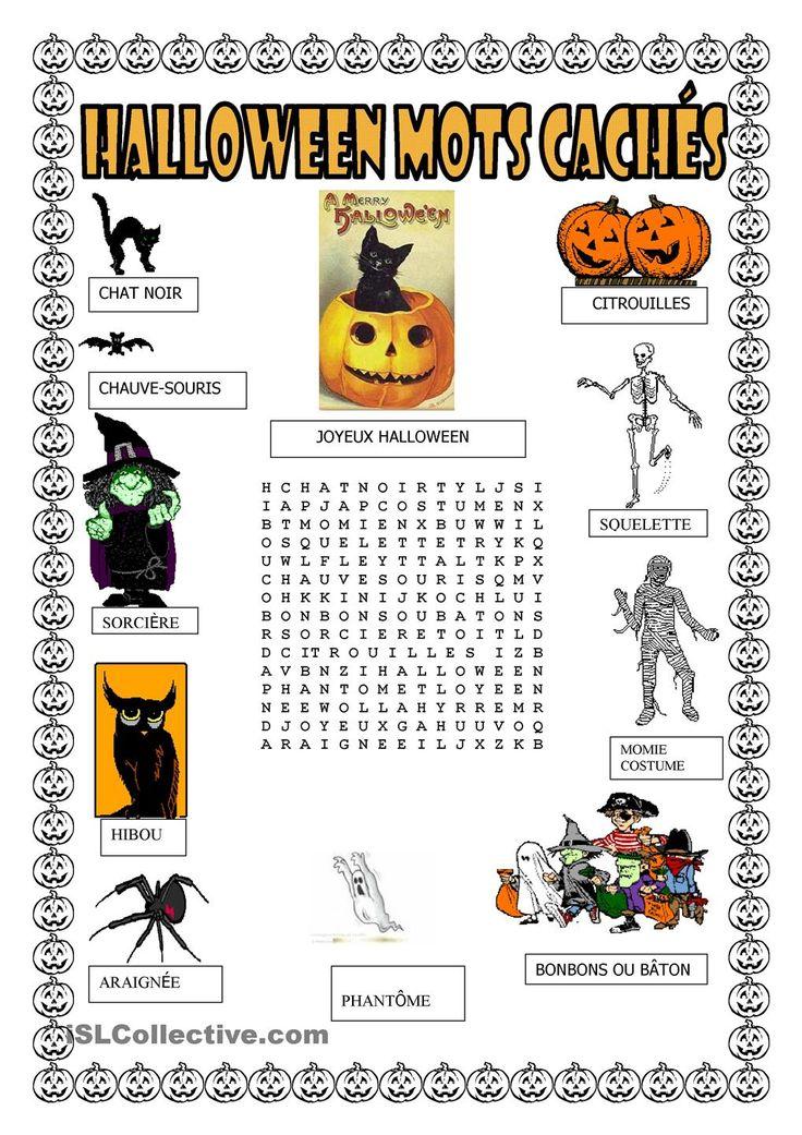 Halloween. mots cachés