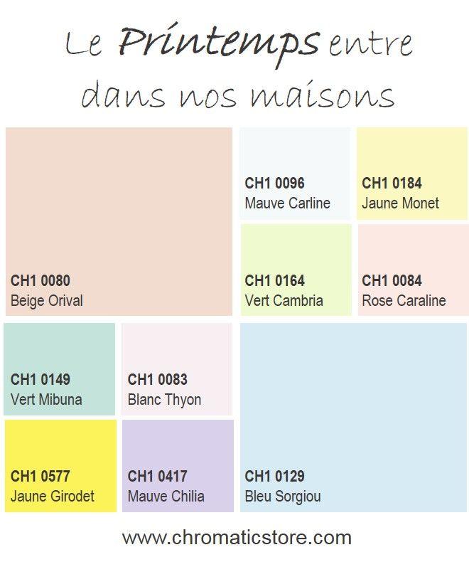 Indémodables, les couleurs pastel (mauve, jaune, vert, rose ou blanc coloré) font un retour en force en décoration intérieure en 2015. Leur fraîcheur printanière pourra être dynamisée avec une touche de Jaune Girodet, citronné, par exemple. www.chromaticstore.com