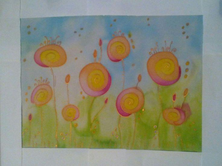 Első képem selyemfestéssel