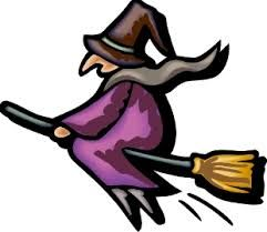 Výsledek obrázku pro čarodějnice kreslené na koštěti