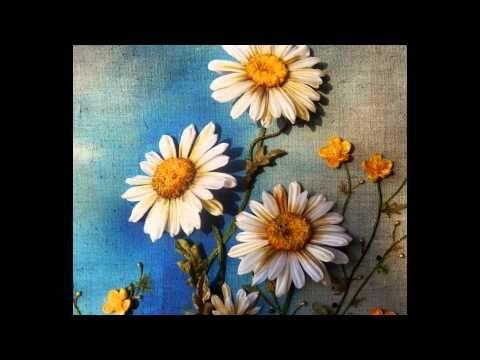 KANZASHI Картина из лент РОМАШКОВОЕ ЛЕТО - YouTube