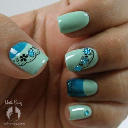 Teal & Aqua Nail Design - 25+ Beautiful Aqua Nail Polish Ideas On Pinterest Summer Nail