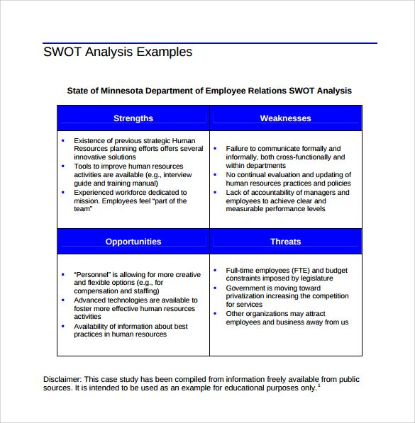 Más de 25 ideas únicas sobre Swot analysis examples en Pinterest - training needs analysis template