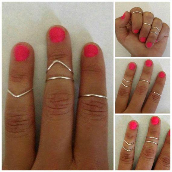 Knuckle ring set of 4 by caseyxxlynn on Etsy, $8.00