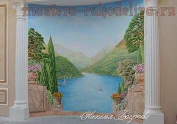 Мастер-класс по росписи в интерьере: Настенная роспись. Объемная декоративная штукатурка
