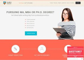 Dissertationguru is one of the most experienced dissertation services online with a commitment to quality and serious attitude to the dissertation writers choosing. The service features new adaptive order form and being designed following specific principles to reach high customer conversion rate.